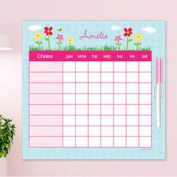 Spring Flowers Chore Chart For Kids