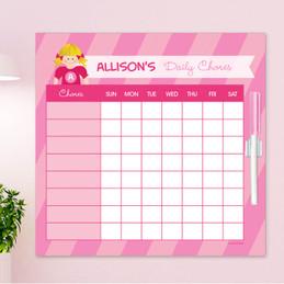 Super Girl Blonde Chore Schedule