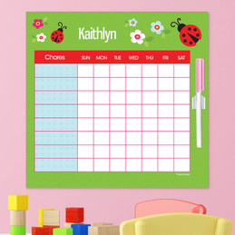 Curious Lady Bug Weekly Chore Chart