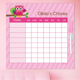 Owl Be Yours Girl Chore Schedule