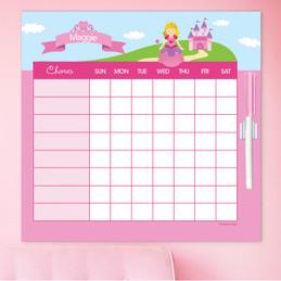 Sweet Little Princess Blonde Customizable Chore Chart