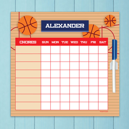 Basketball Fan Charts For Kids