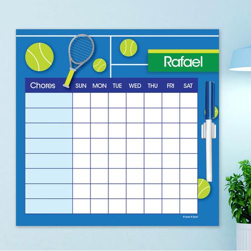 Tennis Fan Childrens Chore Chart