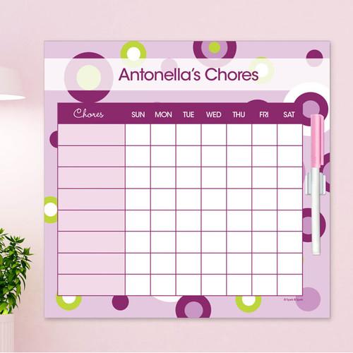Circles And Circles Purple Kids Chore Chart