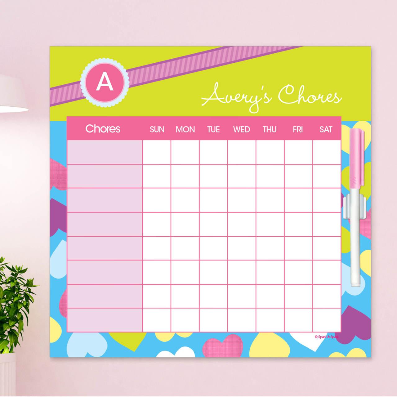Happy Hearts Chore Calendar By Spark Spark
