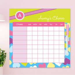Happy Hearts Chore Calendar