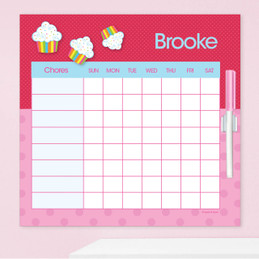 Rainbow Cupcake Weekly Chore Chart