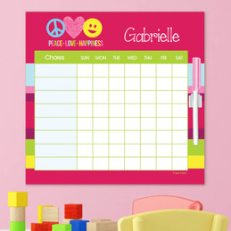 Peace & Love Signs Childrens Chore Chart