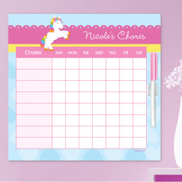 Cute Rainbow Pony Chore Chart For Kids