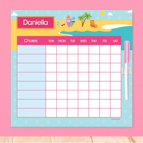 Fun At The Beach Chore List For Kids
