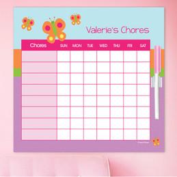 Sweet Butterfly Chore Schedule