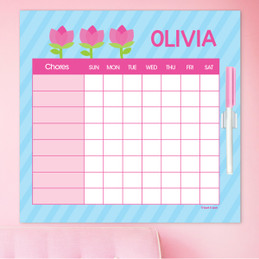 Cute Tulip Customizable Chore Chart