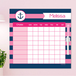 Let's Sail Pink Chore Chart For Teens