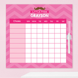 Little Miss Mustache Charts For Kids