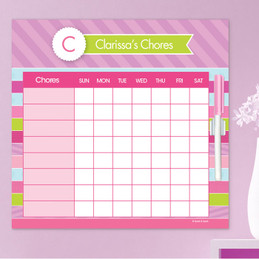 Pastel Stripes Weekly Chore Chart