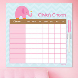 Sweet Pink Elephant Chore Schedule