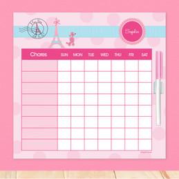Ohh La La Paris Customizable Chore Chart