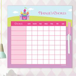 Pretty Heart Castle Chore List For Kids
