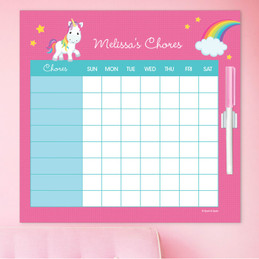 Rainbow Unicorn Charts For Kids