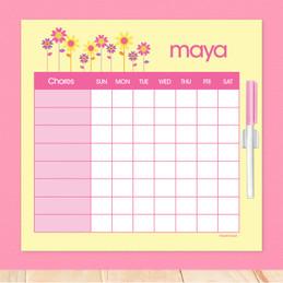 Three Spring Blooms Weekly Chore Chart