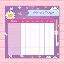 Field Of Flowers Purple Kids Charts