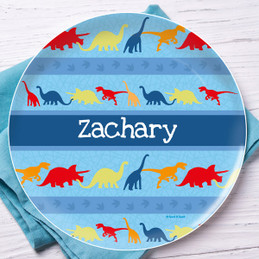 Dinosaur trails Personalized Dishes