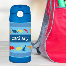 Dinosaur Trails Personalized Thermos