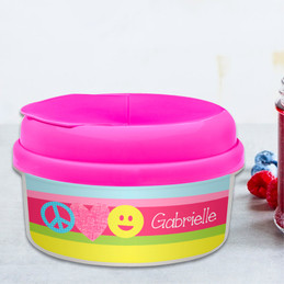 Peace And Love Signs Snack Bowls For Kids