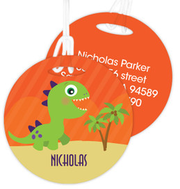 Baby Dinosaur Luggage Tags For Kids