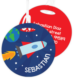Rocket Launch Luggage Tags For Kids