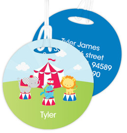 Fun Circus Kids Bag Tags