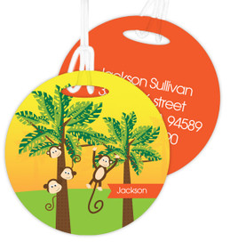 Monkeys In The Jungle Luggage Tags For Kids