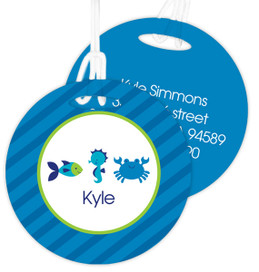 Cute Undersea Creatures Luggage Tags For Kids