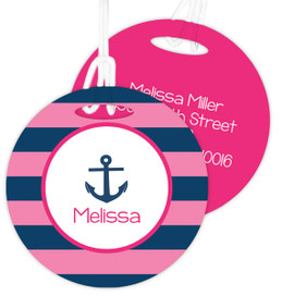 Let's Sail - Pink Bag Tag