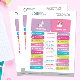 Princess And Rainbows Labels Rectangular Pack (Set of 128)