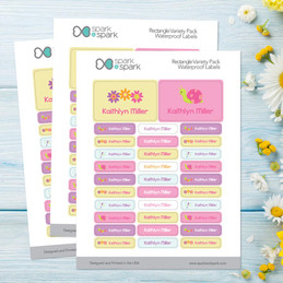 Sweet Spring Labels Rectangular Pack (Set of 128)
