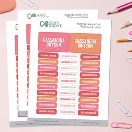 Linen Girl Shades - Pink Labels Rectangular Pack (Set of 128)