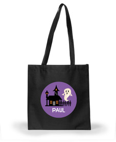 A ghost in the town halloween bags SP10