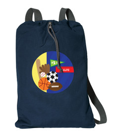 My Love For Sports Personalized Cinch Bags