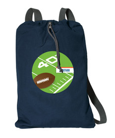 Football Fan Personalized Drawstring Bags