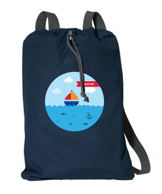 Sailing The Blue Ocean Personalized Bags