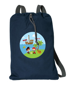 Yo Ho Pirate Personalized Drawstring Bags