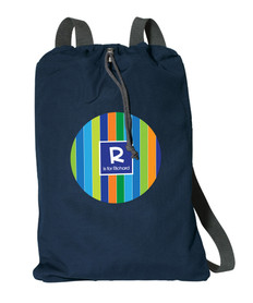 Bold Stripes Personalized Cinch Bags