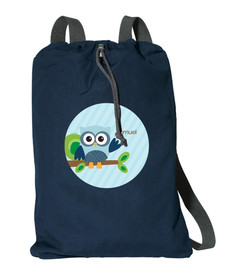 Owl Be Yours Boy Personalized Cinch Bags