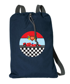 Fast Race Personalized Drawstring Bags