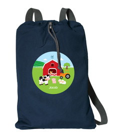 A Day In The Farm Personalized Drawstring Bags