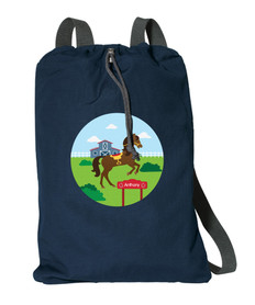Cute Race Horse Personalized Bags For Kids