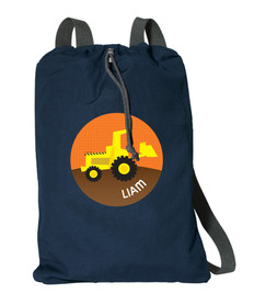Fun Tractor Personalized Drawstring Bags