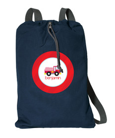 Cute Little Firetruck Personalized Kids Bags