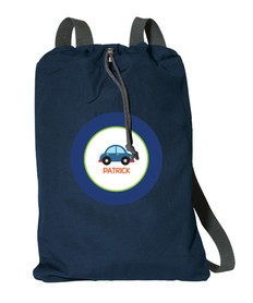 Cute Little Car Personalized Drawstring Bags